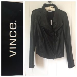 NWT! $995 Vince Leather Jacket